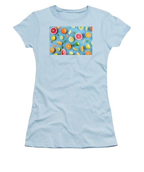Citrus Summer Women's T-Shirt (Junior Cut) by Anastasy Yarmolovich