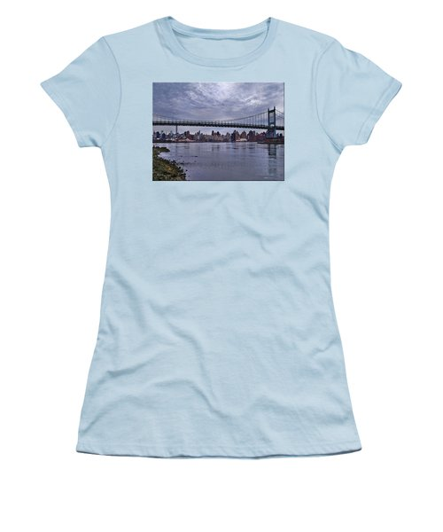 City Scape From Astoria Park Women's T-Shirt (Junior Cut) by Mikki Cucuzzo