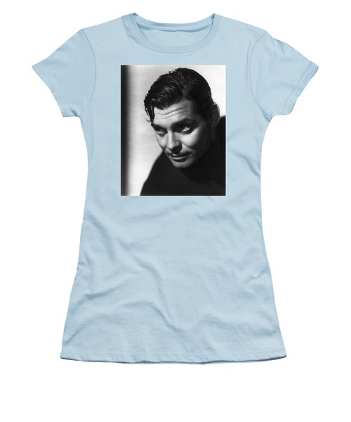 Women's T-Shirt (Athletic Fit) featuring the photograph Clark Gable by R Muirhead Art