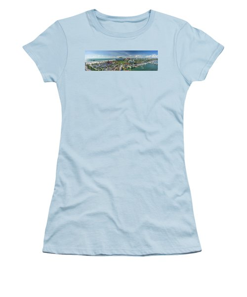 Women's T-Shirt (Athletic Fit) featuring the photograph Clearwater Beach Florida by Steven Sparks