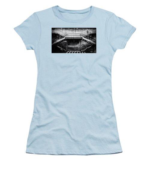 Climb The Stairs Women's T-Shirt (Junior Cut) by M G Whittingham