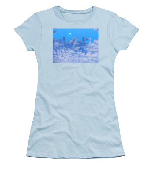 Cloud Castle Women's T-Shirt (Junior Cut) by Mark Blauhoefer
