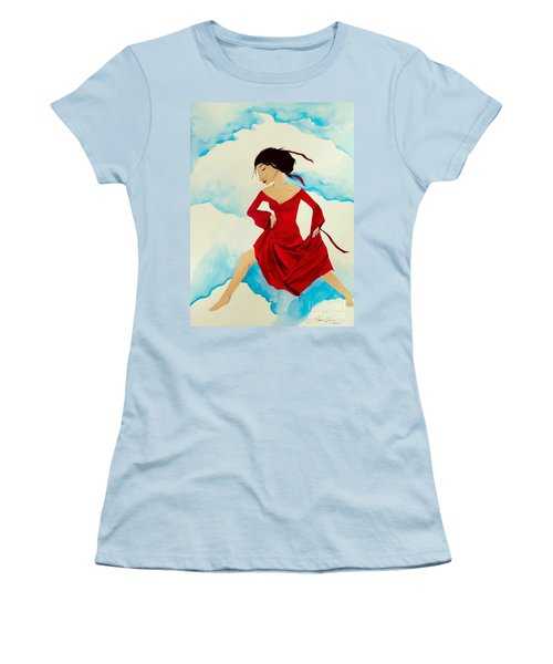 Cloud Dancing Of The Sky Warrior Women's T-Shirt (Athletic Fit)