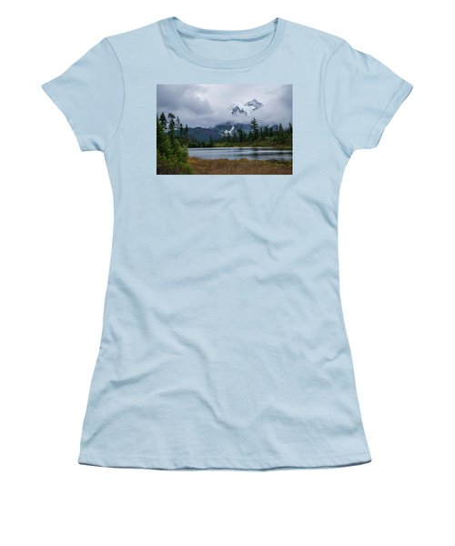 Cloud Mountain Women's T-Shirt (Athletic Fit)