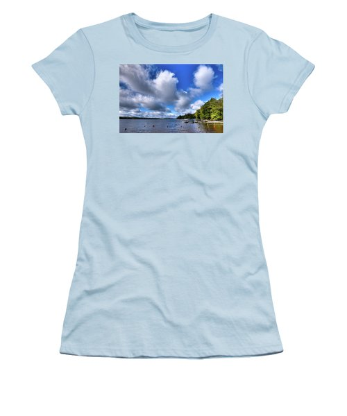 Women's T-Shirt (Athletic Fit) featuring the photograph Clouds Over Palmer Point by David Patterson