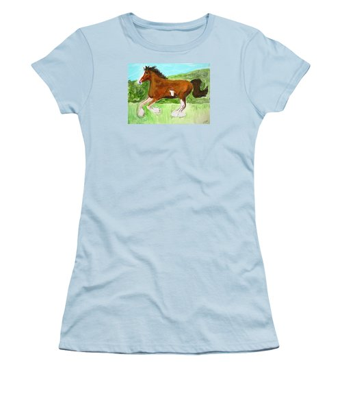 Clydesdale Women's T-Shirt (Athletic Fit)