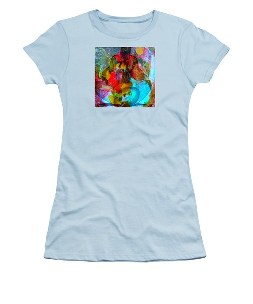 Women's T-Shirt (Junior Cut) featuring the mixed media Cocktail by Fania Simon