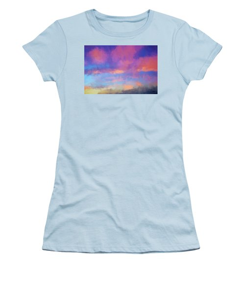 Color Abstraction Xlviii - Sunset Women's T-Shirt (Athletic Fit)