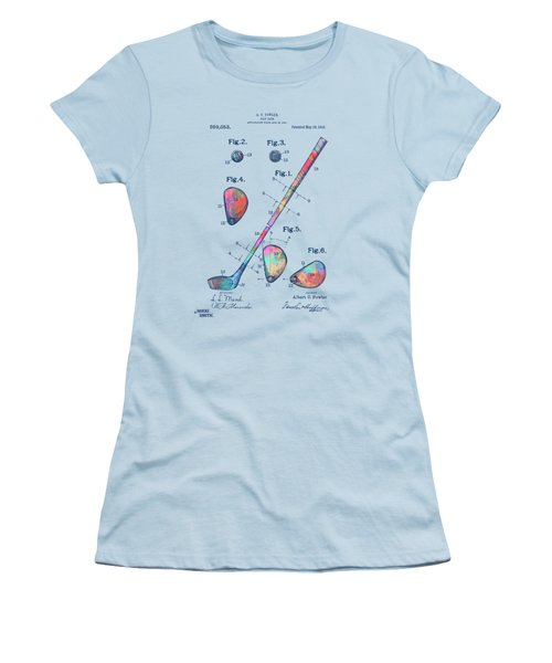 Colorful 1910 Golf Club Patent Women's T-Shirt (Athletic Fit)