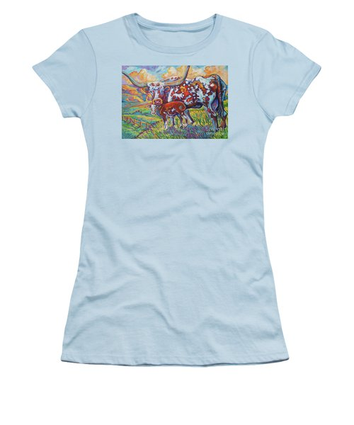 Women's T-Shirt (Junior Cut) featuring the painting Colorful Momma by Jenn Cunningham