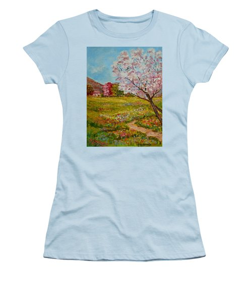Colors Of Spring Women's T-Shirt (Athletic Fit)