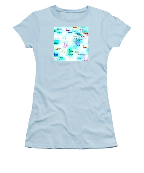 Colour Light Abstraction Invert Women's T-Shirt (Athletic Fit)