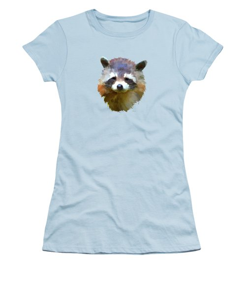 Colourful Raccoon Women's T-Shirt (Athletic Fit)