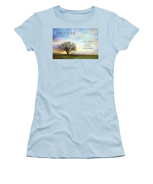 Women's T-Shirt (Junior Cut) featuring the photograph Come Fly With Me by Lori Deiter