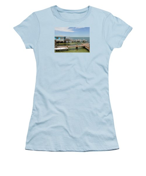 Conch Key Blue Cottage Women's T-Shirt (Athletic Fit)