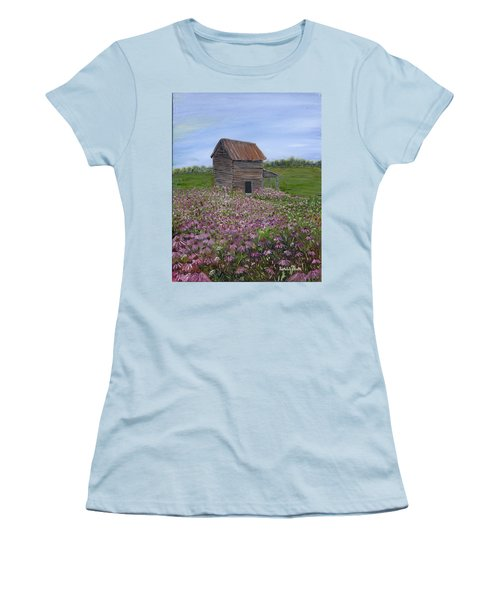 Coneflowers Women's T-Shirt (Athletic Fit)