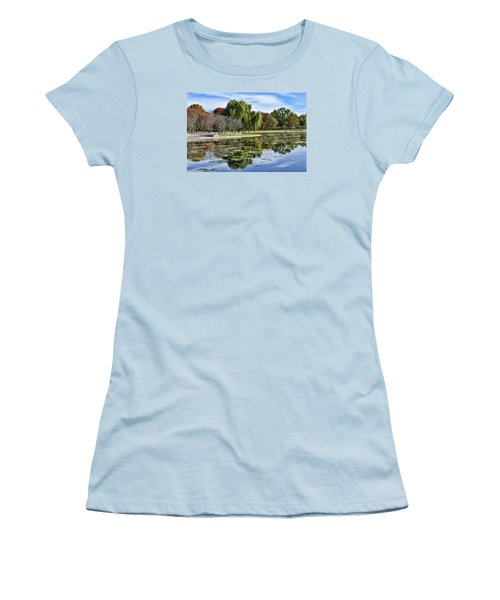 Constitution Gardens On The National Mall Women's T-Shirt (Junior Cut) by Brendan Reals