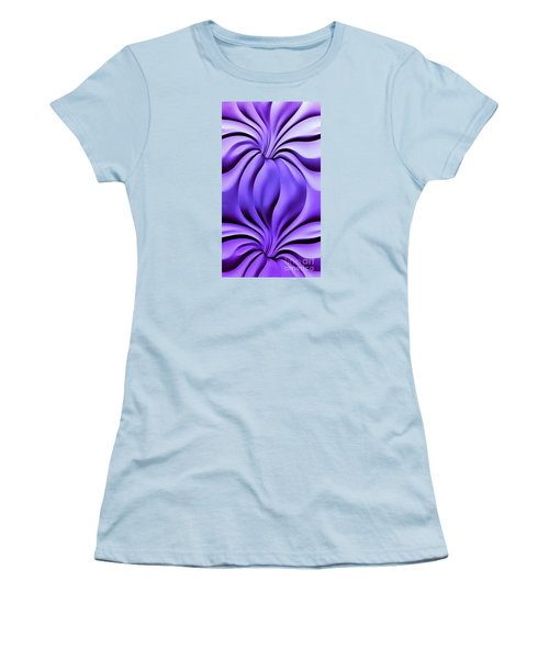 Women's T-Shirt (Junior Cut) featuring the photograph Contemplation In Purple by Roberta Byram