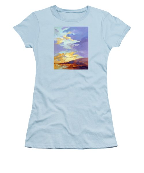 Women's T-Shirt (Junior Cut) featuring the painting Convergence by Rae Andrews