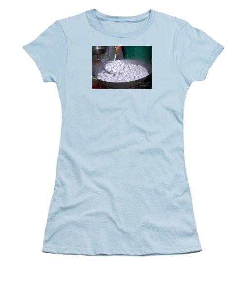 Cooking Chinese Fish Balls Women's T-Shirt (Junior Cut) by Yali Shi