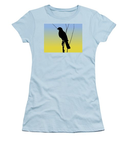Coopers Hawk Silhouette At Sunrise Women's T-Shirt (Athletic Fit)