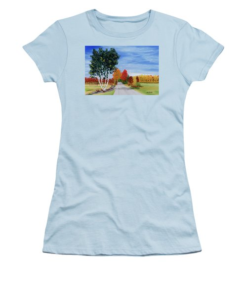 Cottage Row Women's T-Shirt (Athletic Fit)