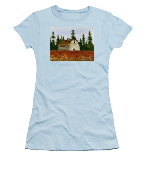 Women's T-Shirt (Junior Cut) featuring the painting Country Landscape by James Williamson