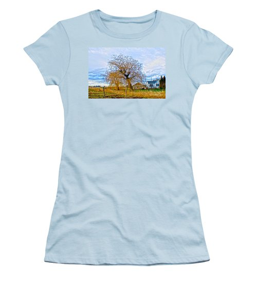 Women's T-Shirt (Athletic Fit) featuring the photograph Country Life Artististic Rendering by Clayton Bruster