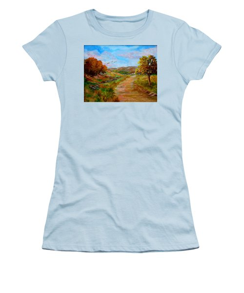 Country Road 2 Women's T-Shirt (Athletic Fit)