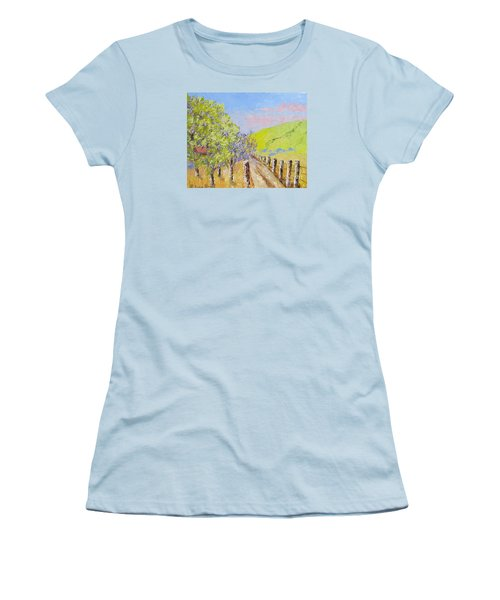 Country Road Pallet Knife Women's T-Shirt (Junior Cut) by Lisa Boyd