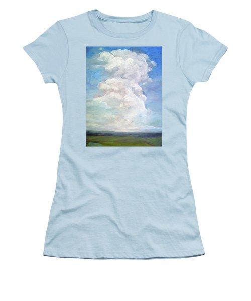 Women's T-Shirt (Junior Cut) featuring the painting Country Sky - Painting by Linda Apple
