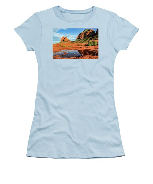 Cowpie 07-101 Women's T-Shirt (Junior Cut) by Scott McAllister