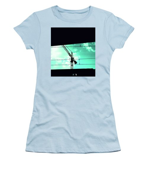 Crane And Shadows Women's T-Shirt (Athletic Fit)