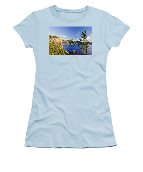 Crater Lake II Women's T-Shirt (Junior Cut) by Albert Seger