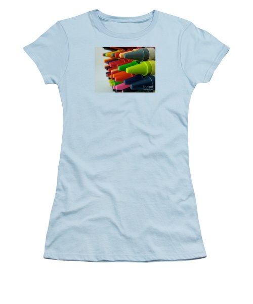 Crayons Women's T-Shirt (Junior Cut) by Chad and Stacey Hall
