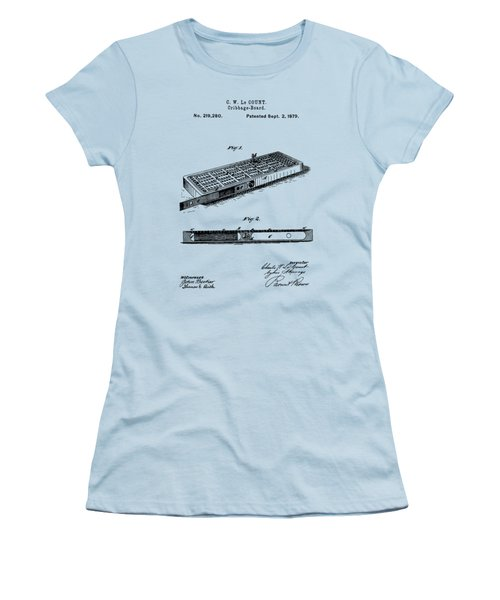 Cribbage Board 1879 Patent Art Transparent Women's T-Shirt (Athletic Fit)