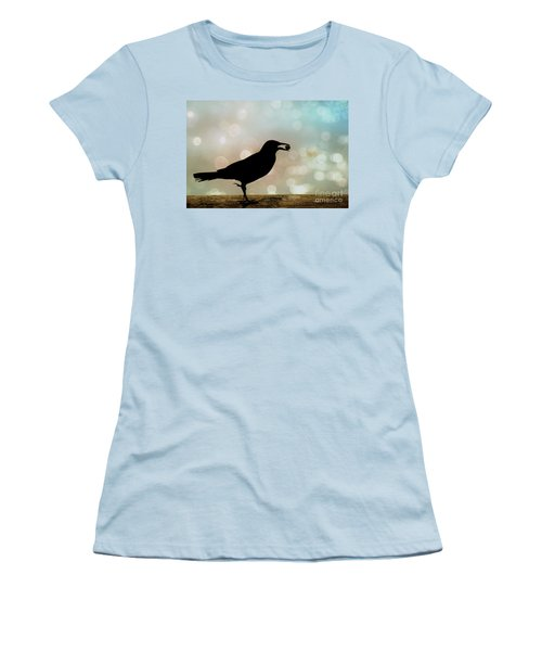 Women's T-Shirt (Junior Cut) featuring the photograph Crow With Pistachio by Benanne Stiens