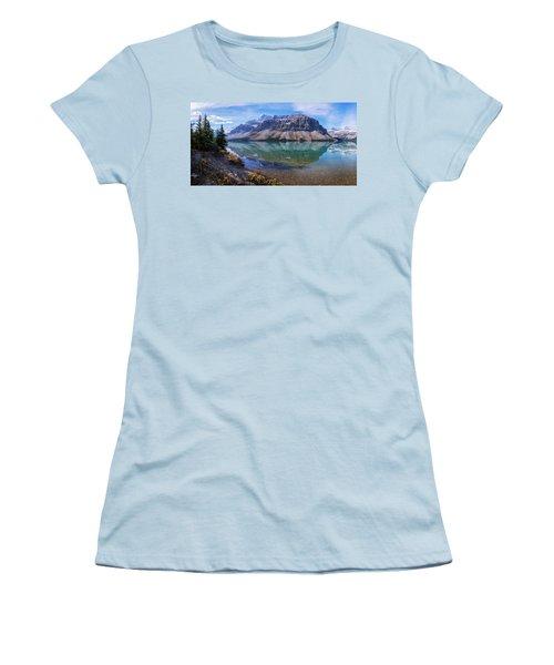 Women's T-Shirt (Junior Cut) featuring the photograph Crowfoot Reflection by Chad Dutson