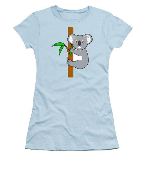 Koala With Eucalyptus Snack Women's T-Shirt (Junior Cut) by A