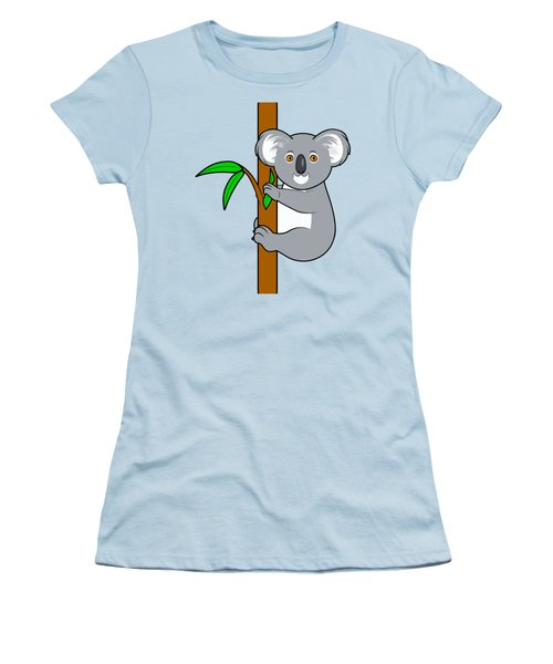 Koala With Eucalyptus Snack Women's T-Shirt (Athletic Fit)