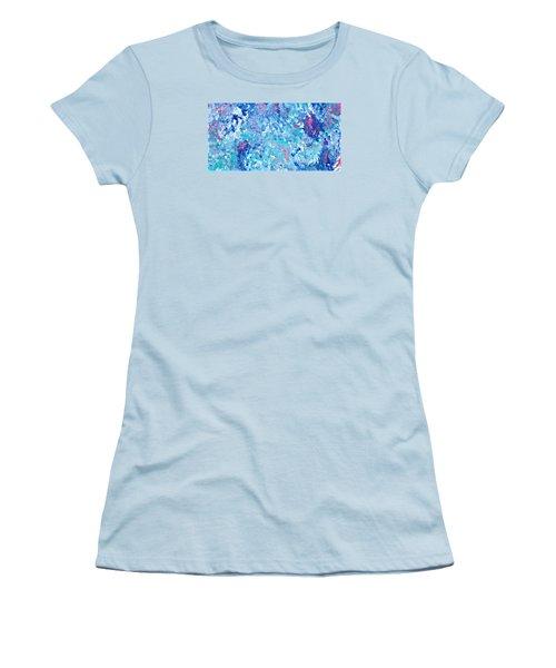 Women's T-Shirt (Junior Cut) featuring the painting Cy Lantyca 24 by Cyryn Fyrcyd