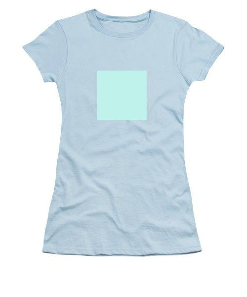 Cyan Ultra Soft Pastels Colour Palette Women's T-Shirt (Athletic Fit)