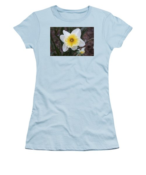 Women's T-Shirt (Junior Cut) featuring the photograph Daffodil At Black Creek by Jeff Severson