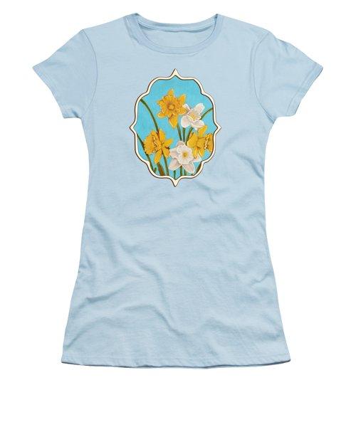 Daffodils Women's T-Shirt (Junior Cut) by Anastasiya Malakhova