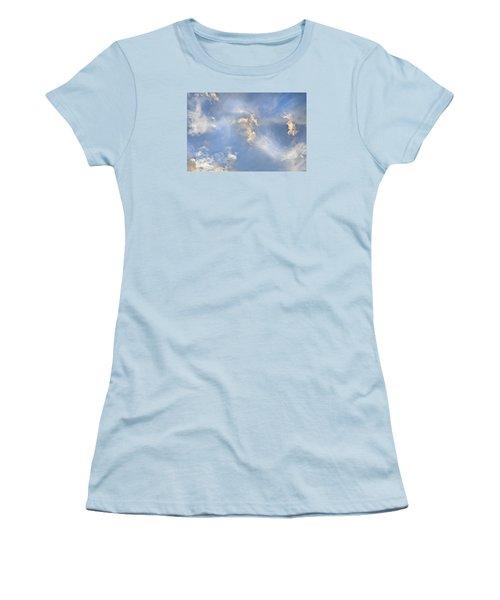 Women's T-Shirt (Junior Cut) featuring the photograph Dancing Clouds by Wanda Krack