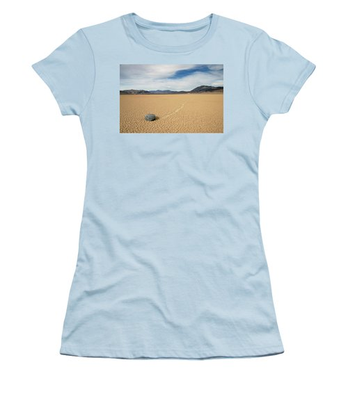Women's T-Shirt (Junior Cut) featuring the photograph Death Valley Ractrack by Breck Bartholomew