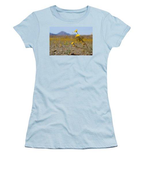 Women's T-Shirt (Junior Cut) featuring the photograph Death Valley Superbloom 501 by Daniel Woodrum