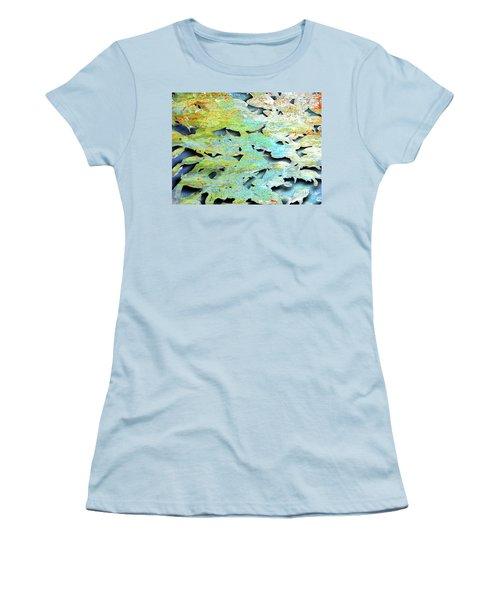 Women's T-Shirt (Junior Cut) featuring the mixed media Deep by Tony Rubino