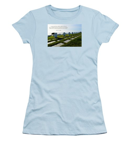 Women's T-Shirt (Junior Cut) featuring the photograph Defending Liberty by Glenn McCarthy Art and Photography