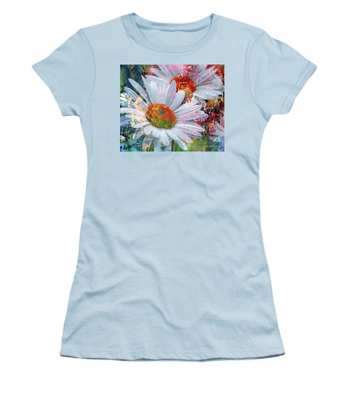 Delightful Daisies Women's T-Shirt (Junior Cut) by Annie Zeno